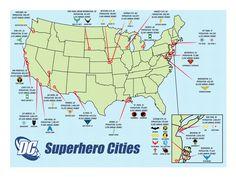 DC Superhero Cities by BatmanBrony