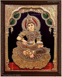 Tanjore Painting using 22 carat original gold foil and embossing, semi precious stone and chettinad teak wood frame. Shiva Art, Hindu Art, Ganesha Art, Tanjore Painting, Mysore Painting, Kalamkari Painting, Online Art Store, Diwali Images, Lord Krishna Wallpapers