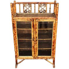 1stdibs | English Bamboo Glass-Front Bookcase