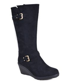 Black Afana Boot #zulily #zulilyfinds