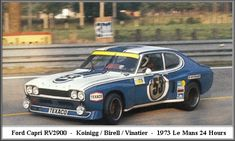 1973 Ford Capri LV Ford (2.995 cc.) (A)  Jean Vinatier  Helmut Koinigg  Gerry Birrell