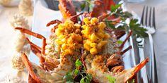 Homard grillé et salade de mangues au gingembre
