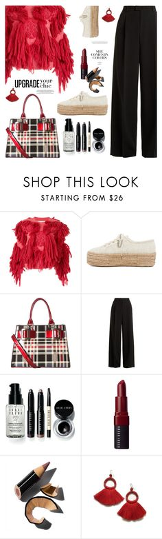 """My mood today"" by jan31 ❤ liked on Polyvore featuring writtenafterwards, Superga, Diophy, RED Valentino, Bobbi Brown Cosmetics, plaid, polyvoreeditorial and plaidbags"