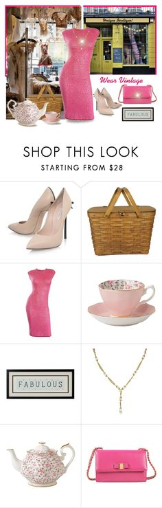 """""""Unique Boutique"""" by runners ❤ liked on Polyvore featuring Casadei, Royal Albert, Chanel and Salvatore Ferragamo"""