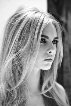 Classic - blonde hair with dark eyebrows that frame the face
