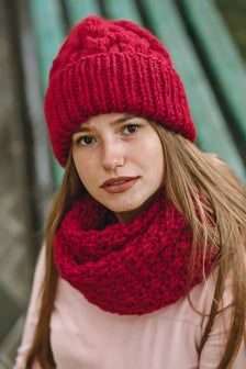 Red cabled hat Wool cowl and hat Slouchy beanie women Red hat wool Red winter hat Wool winter set Winter scarf knit Knit cowl Red cowl scarf : Red cabled hat Wool cowl and hat Slouchy beanie women Red hat Knit Cowl, Scarf Knit, Loop Scarf, Slouchy Beanie, Red Hats, Wool Yarn, Knitted Hats, Winter Hats, Knitting