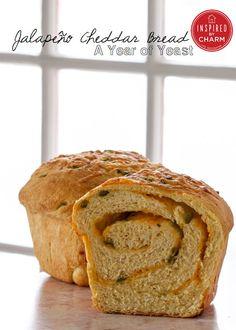 Homemade Jalapeño Cheddar Bread @Michael Wurm, Jr. {inspiredbycharm.com}