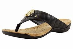 Donna Karan DKNY Womens Bianca Quilted Black Flip Flop Sandals Shoes Sz 65 ** Click image for more details.(This is an Amazon affiliate link and I receive a commission for the sales)