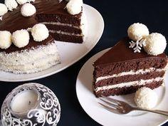 Citromhab: Hólabda torta Hungarian Recipes, Hungarian Food, Relleno, Holiday Parties, Tiramisu, Healthy Snacks, Dessert Recipes, Food And Drink, Sweets