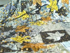 Art Quilt, Not So Grey Autumn, Wall Decoration, Yellow Grey Quilt. $650.00, via Etsy.