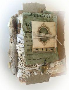 Handmade Fabric Stitching Art Blank by nelliewortman on Etsy
