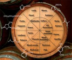 Whisky tasters can use 'flavour wheels' to assess the complex mixture of compounds that make up each individual whisky.