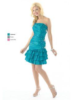 Ruffle Princess Ruched Sheath Strapless Empire Crystal Mini Wedding Dresses WE1032