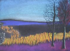 Landscape with Pastels.  Several examples and lesson plan on this blog.