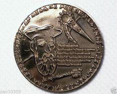 GCC-April-2009-Nostradamus-Antique-Silver-Finish-New-Unactivated-Geocoin