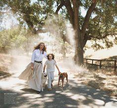 The Great Escape, Peter Lindbergh   Tatjana Patitz, American Vogue 2012   Grace Coddington, Didier Malige, Stéphane Marais, Evan Jourden   California