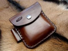 Hand Made Leather 2oz 'Possibles' Pouch (Portrait Style)