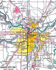 Kansas City Kansas And And It S Larger Cross Border Namesake Kansas City City Mapskansas Cityeach Othermissourilarger