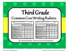 Third Grade Common Core Rubrics For Opinion Informative And Narrative