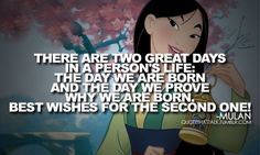 I always loved Mulan, kick butt Disney Princess who had goals outside of finding the prince!
