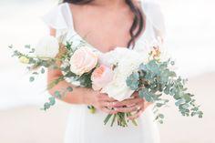 Pavan Floral Bouquet for beach wedding shot by Kara Coleen