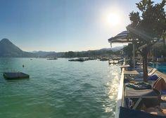 Assim fica fácil tirar fotos perfeitas...  #lakelugano #lagodilugano #switzerland #vacation #paradise #eurotrip