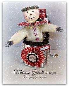 smoothfoam jack in the box snowman  #craftfoam