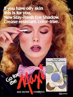 NANCY DE WEIR Max Factor Ad  1982
