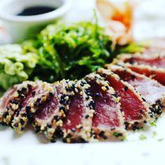 Pepper Tuna Tataki  #sushi #carpaccio #dinner