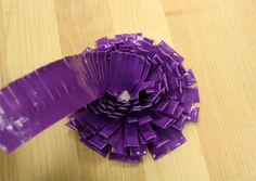 duck tape flower tutorial 4