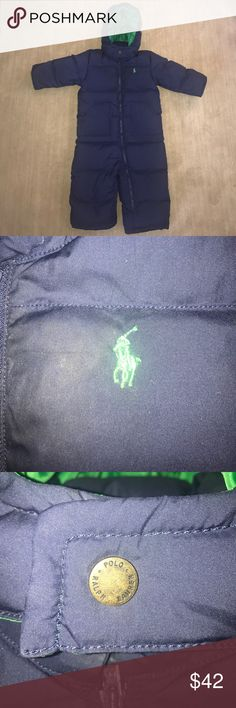 Ralph Lauren POLO Baby Boy Ski Suit 18M EUC WARM My son wore this on our trip to London last year, but only about 2 - 3 times. Kept him warm and dry. Polo by Ralph Lauren One Pieces Bodysuits