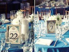 like table names like train platforms, also like the first centerpiece