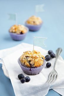 Vegan backen: Heidelbeer Muffins (© Marie Laforêt)