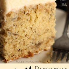 Best banana cake ever! This crazy banana cake with cream cheese icing is moist and delicious every time. It's the only banana cake recipe you'll ever need. Best Cake Recipes, Banana Recipes, Dessert Recipes, Desserts, Favorite Recipes, Cream Cheese Icing, Cake With Cream Cheese, Crazy Banana Cake Recipe, Banana Cake Recipe With Buttermilk