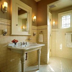 Arts & Crafts (1910-1925) design bathroom