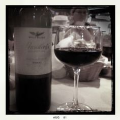 A glass of red before bed. Have one too...:)
