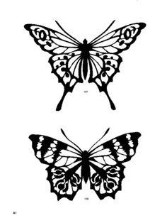 fine lacy butterflies