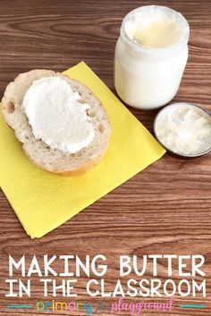 Making Butter In the Classroom - Primary Playground Preschool Cooking Activities, Farm Activities, Nutrition Activities, Preschool Lessons, Preschool Age, Toddler Activities, Preschool Activities, Cooking In The Classroom, Farm Lessons