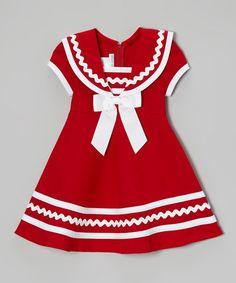 Look at this #zulilyfind! Red & White Sailor Dress by Gerson & Gerson #zulilyfinds