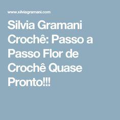 Silvia Gramani Crochê: Passo a Passo Flor de Crochê Quase Pronto!!!