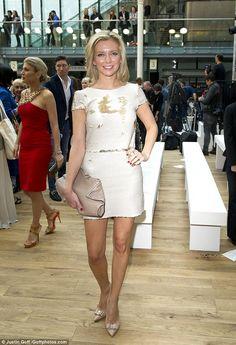 Rachel Riley and Pasha Kovalev attend London Fashion Week together just one week after confirming their romance Short Skirts, Short Dresses, Formal Dresses, Pasha Kovalev, Katherine Jenkins, Peplum Dress, Celebrity Style, Actresses