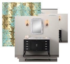 """Baño mueble"" by rosovila on Polyvore featuring interior, interiors, interior design, hogar, home decor y interior decorating"