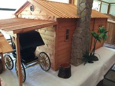 1:6 Scale Two-Room Cabin for Johnny West, Dragon, DID, Barbie, GI Joe by Littlehorsepower