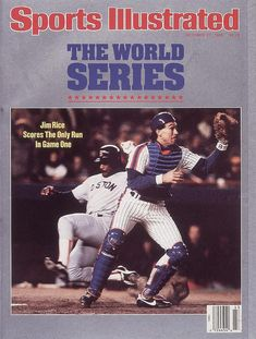 Publication Date: October Illustrated Cover Baseball: World Series: Boston Red Sox Jim Rice in action, scoring run vs New York Mets Gary Carter Game Flushing, NY CREDIT: Ronald C. Ny Mets, New York Mets, 1986 World Series, Jim Rice, Gary Carter, Cy Young Award, Si Cover, Lets Go Mets, Baseball Pictures