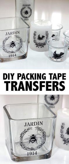 DIY Packing Tape Transfers
