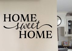 Home Sweet Home Vinyl Wall Decal by Wild Eyes Signs, Wall Art, Hallway, Foyer, Livingroom Decor, Country home, wall decal quote, wall sticker, Art, Lettering, HH2083. Home sweet home ~~PRODUCT DESCRIPTION~~ *Removable Vinyl wall decal * Colors can be selected from the Color Palette in the photos of the listing * Any sample photo used is for illustrative purposes and may not be to scale! Measure area to ensure good fit. Custom sizing is available, please convo for quote. ~~CHECKOUT…