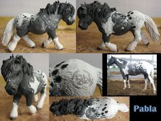Customized and repainted schleich shetlander mare