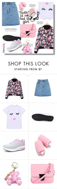 """""""Casual"""" by sans-moderation ❤ liked on Polyvore featuring Spring, Pink, denim, skirt and cte"""