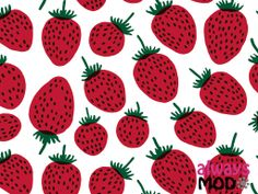 mansikka-1024.jpg 1.024×768 pixels marimekko strawberries pattern