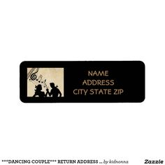 ***DANCING COUPLE*** RETURN ADDRESS LABEL